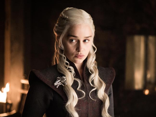 Emilia Clarke in the role Game of Thrones character Daenerys Targaryen, who will appear in Season Eight. Picture: HBO