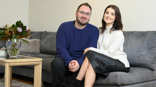 Ashleigh Smith, 26, and partner Chris Oakes, 29 bought a home in Lane Cove.