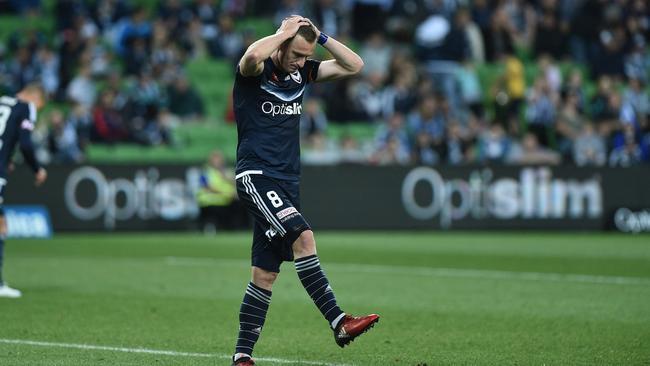 Melbourne Victory player Besart Berisha.