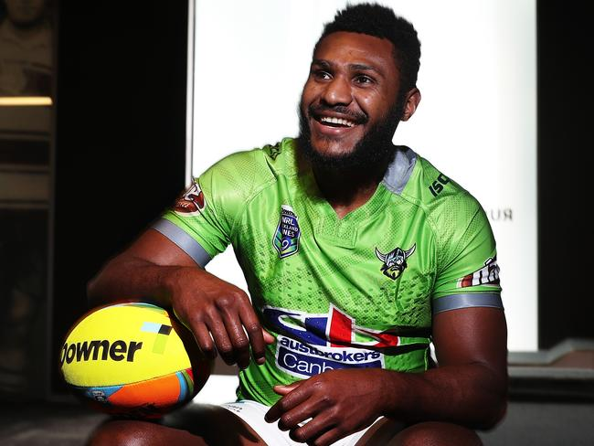 Canberra Raiders Kato Ottio during the 2017 Auckland Nines launch.