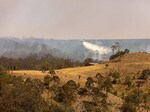 Rebecca Dunstall took these photos of the Pechey fire, near Hampton.