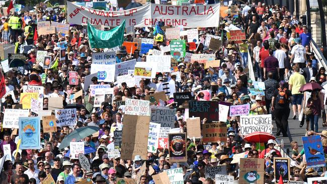 Climate change protesters are getting their voices heard. Picture: AAP / Darren England