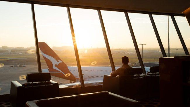 The Qantas Lounge at Sydney International Airport. Photo: Qantas