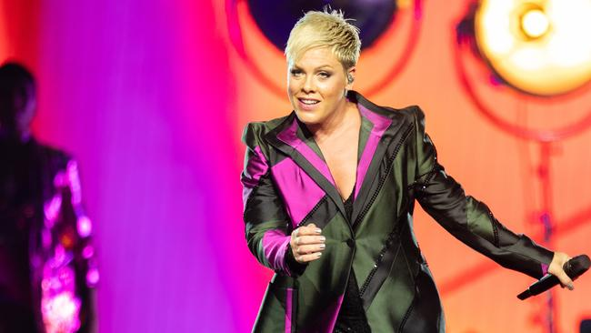 Pink has been forced to cancel her first Sydney show. Picture: AAP Image/Richard Wainwright