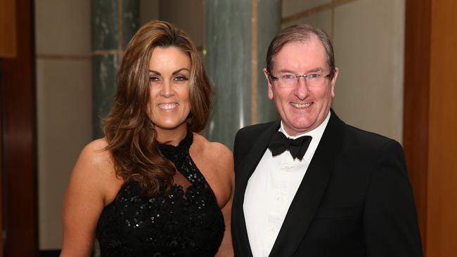 The Prime Minister's chief-of-staff Peta Credlin and husband Brian Loughnane. The Liberal Party's federal director is being blamed for appointing Mr Mentach.