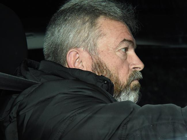 Borce Ristevski leaves his Avondale Heights home. Picture: Nicole Garmston