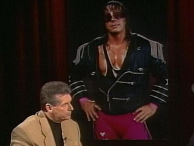 Vince McMahon and Bret Hart's spat loomed large. Picture: WWE