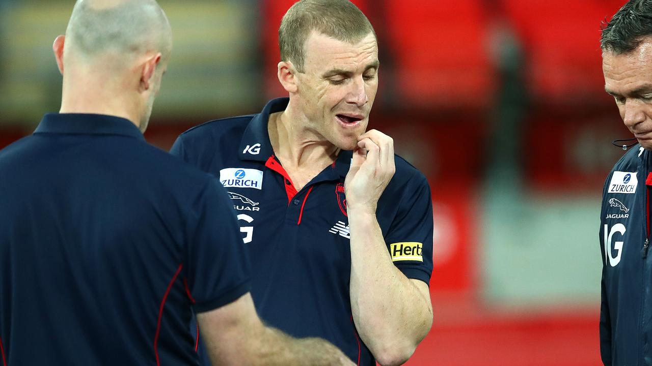 Simon Goodwin still has 30 months left on his current contract. Photo: Jono Searle/AFL Photos/via Getty Images.