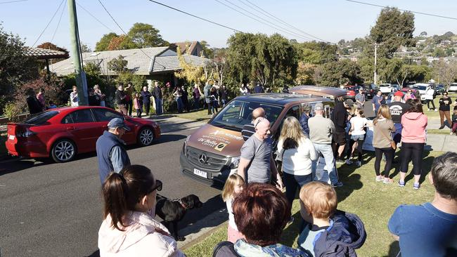 Saturday's auction drew a big crowd. Picture: Alan Barber