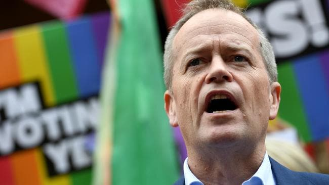 Federal Opposition Leader Bill Shorten spoke at several Yes rallies. Picture: AAP Image/Paul Miller.