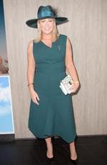 Samantha Armytage at the Birdcage during Melbourne Cup Day at Flemington Racecourse in Melbourne, Tuesday, November 7, 2017. Picture: AAP Image/Tracey Nearmy