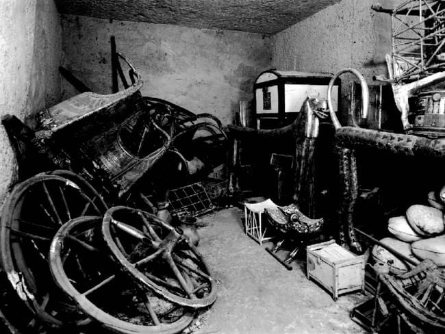 Antechamber inside tomb of King Tutankhamen in Luxor, Egypt. Numerous people connected to the tomb's discovery died in mysterious circumstances. Picture: Supplied