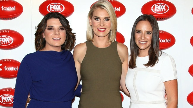On The Mark hosts, Kelli Underwood, Sarah Jones and Neroli Meadows, at last night's launch. Image: Supplied.