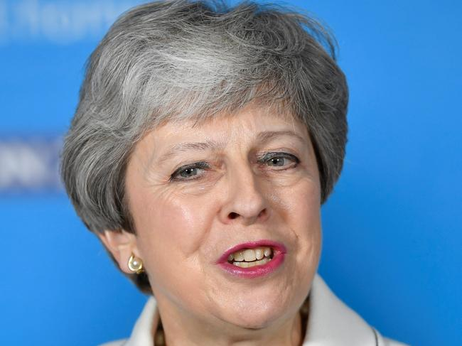 Britain's Prime Minister Theresa May. Her rival Jeremy Corbyn says her plan to stand down means Labour has no faith of her ability to deliver on a deal. Picture: AFP