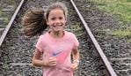 21km is a daily 'stroll in the park' for 9-year-old Molly - she's set her sights on 625km in honour of her little sister lost to brain cancer