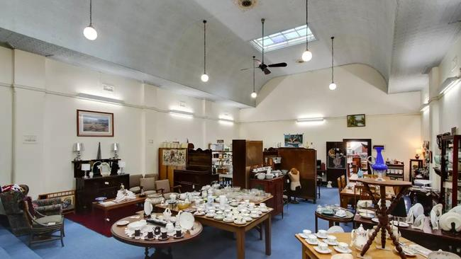 The Tenterfield lodge was filled with antiques.