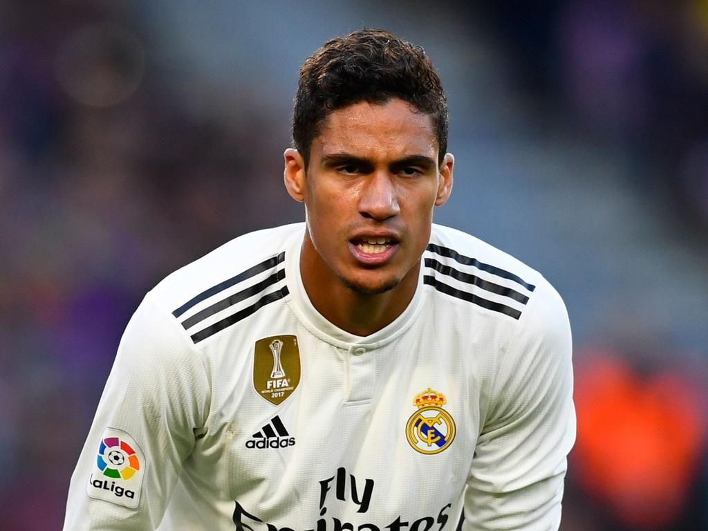 Real Madrid's French defender Raphael Varane looks on during the Spanish league football match between FC Barcelona and Real Madrid CF at the Camp Nou stadium in Barcelona on October 28, 2018. (Photo by GABRIEL BOUYS / AFP)
