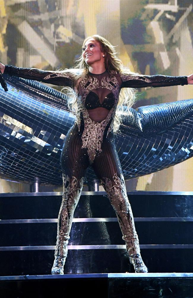 JLo onstage for the finale time at Planet Hollywood Resort and Casino. Picture: Getty Images for Caesars Entertainment