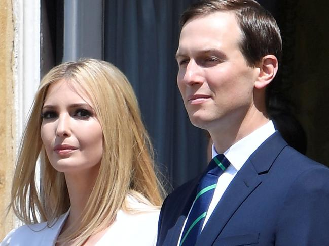 Ivanka Trump and her husband, special adviser to the US President Jared Kushner. Pic: AFP