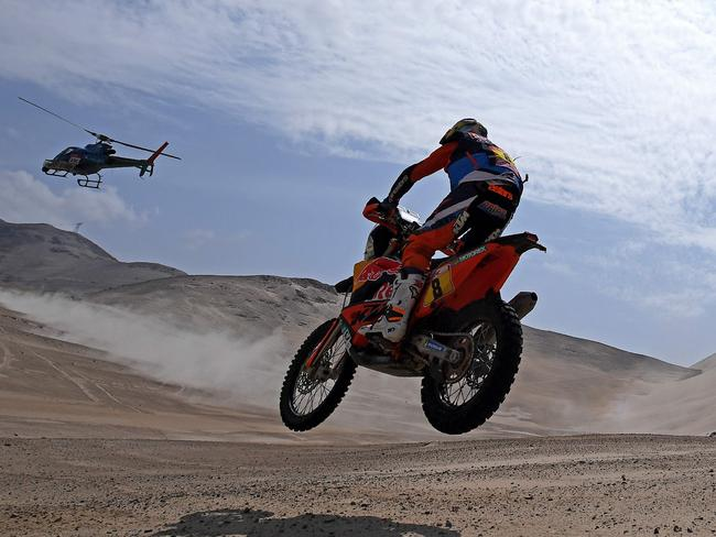 Toby Price is within 10 minutes of the Dakar Rally lead.