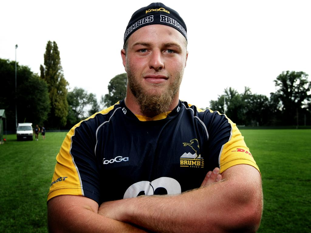 Brumbies player Dan Palmer Training at the Headquarters in Canberra.