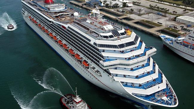 Carnival Glory cruise ship ocean liner in Cape Canaveral, Florida.
