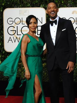 Jada Pinkett Smith with her husband Will Smith at the Golden Globes. Picture: Jordan Strauss/Invision/AP