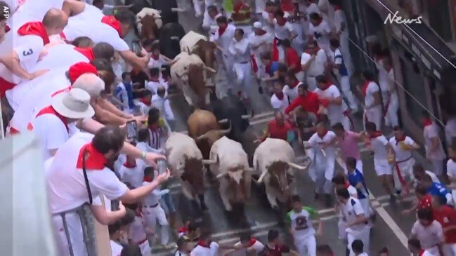 Famous Spanish bull run kicks off
