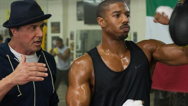 Stallone and Jordan in Creed.
