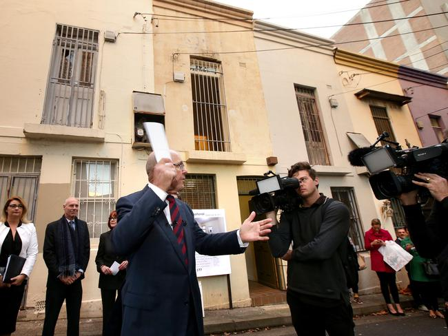 Last month a narrow two-storey house in Sydney's Surry Hills just 2.85m wide sold for $965,000. Picture: Stephen Cooper