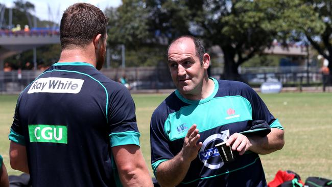 Mario Ledesma at NSW Waratahs training.