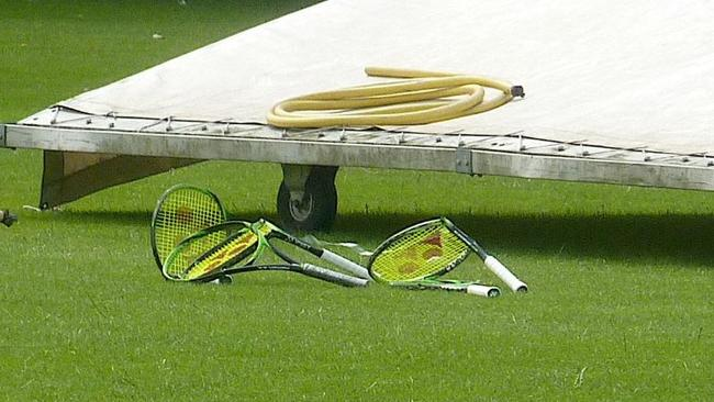 Akira Santillan destroyed every one of his racquets after losing.