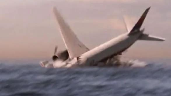 A digital reconstruction of the crash of Malaysian Airlines flight MH370.