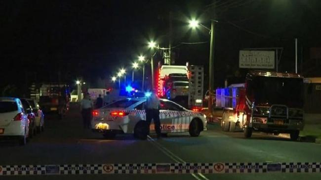 The man died last night. Picture: 9 News