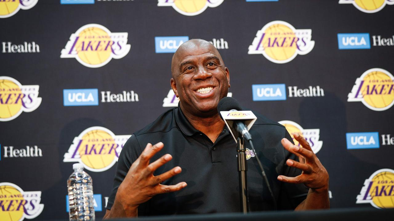 Johnson is out as Lakers president.