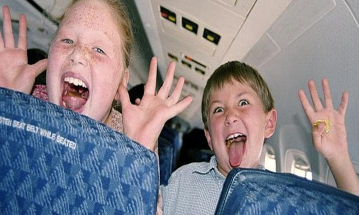 The don'ts of flying with kids