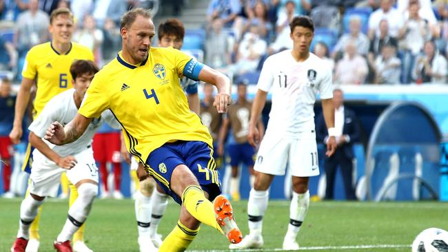 Andreas Granqvist Of Sweden Scores His Teams First