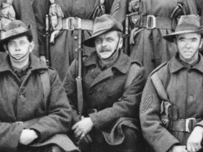 Corporal Allen Jarrett (far left). Picture: Australian War Memorial