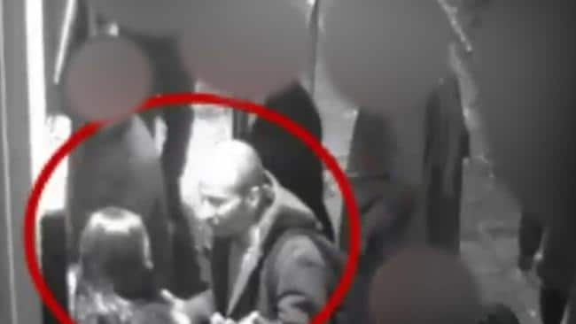 CCTV screen shots India Chipchase with Edward Tenniswood outside a nightclub in Northampton.