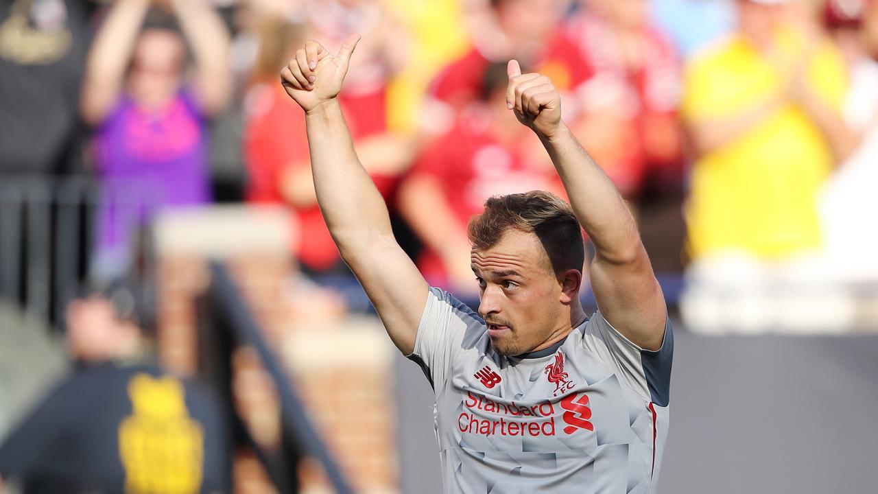 Liverpool V Manchester United Xherdan Shaqiri Goal International Champions Cup Premier League News Fox Sports