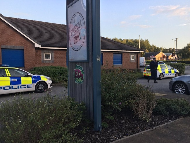 Police closed off The Lock Keeper pub, after the man is said to have been arrested. Picture: MEN Media