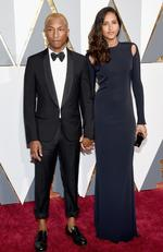 Pharrell Williams and Helen Lasichanh attend the 88th Annual Academy Awards on February 28, 2016 in Hollywood, California. Picture: Getty