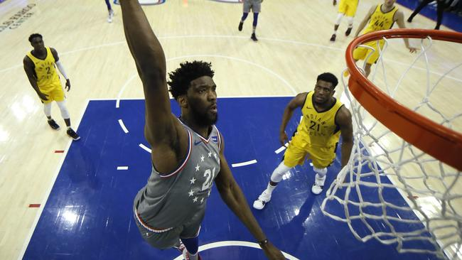 NBA 76ers vs Indiana Pacers score: Joel Embiid is 'absolutely absurd'