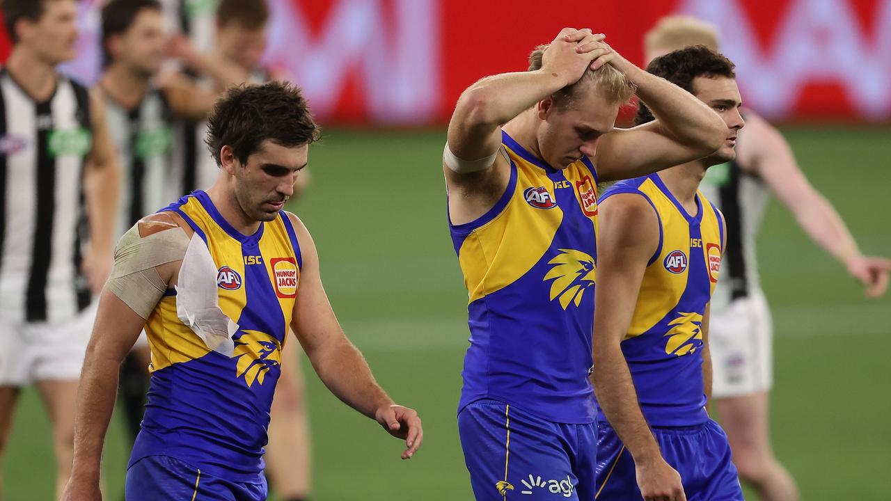 West Coast failed at home against Collingwood. Photo: Paul Kane/Getty Images.