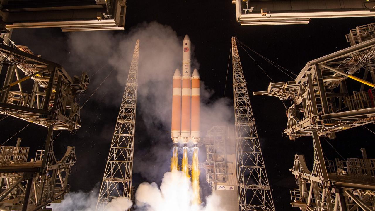 The United Launch Alliance Delta IV Heavy rocket with the Parker Solar Probe on-board during its launch on August 12, 2018. Picture: AFP/ NASA / Bill Ingalls