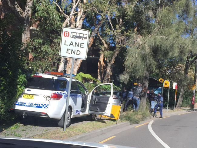 Officers arrested him after a chase that ended on Old South Head Road, Bondi. Picture: James Dimovski