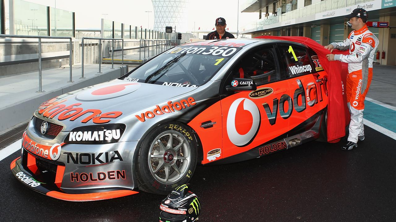 Dane and Jamie Whincup unveil Triple Eight's first Holden in 2010.