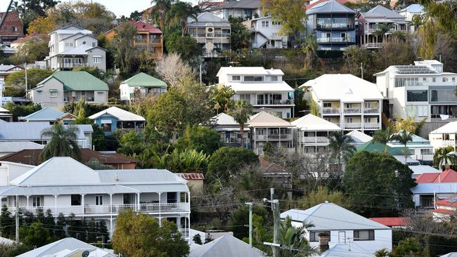 Houses in the Brisbane suburb of Paddington. Image: AAP/Darren England.