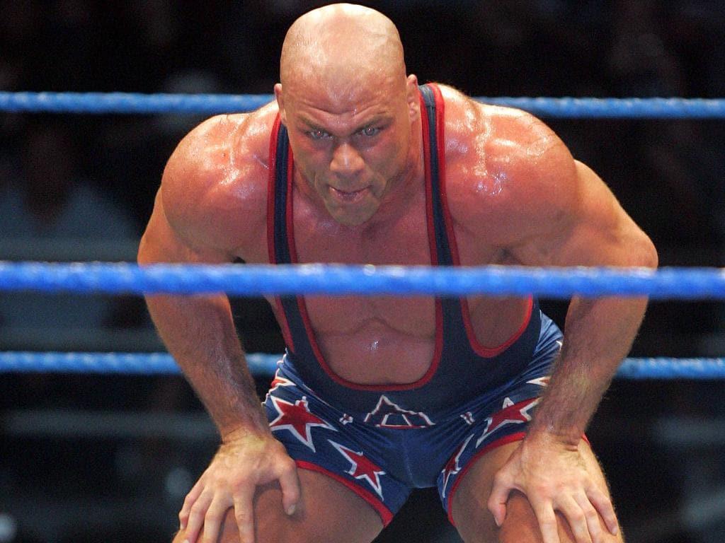 Kurt Angle taunts Booker T.