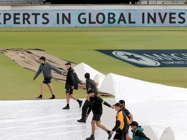 Ground staff are losing the battle at the Waca.